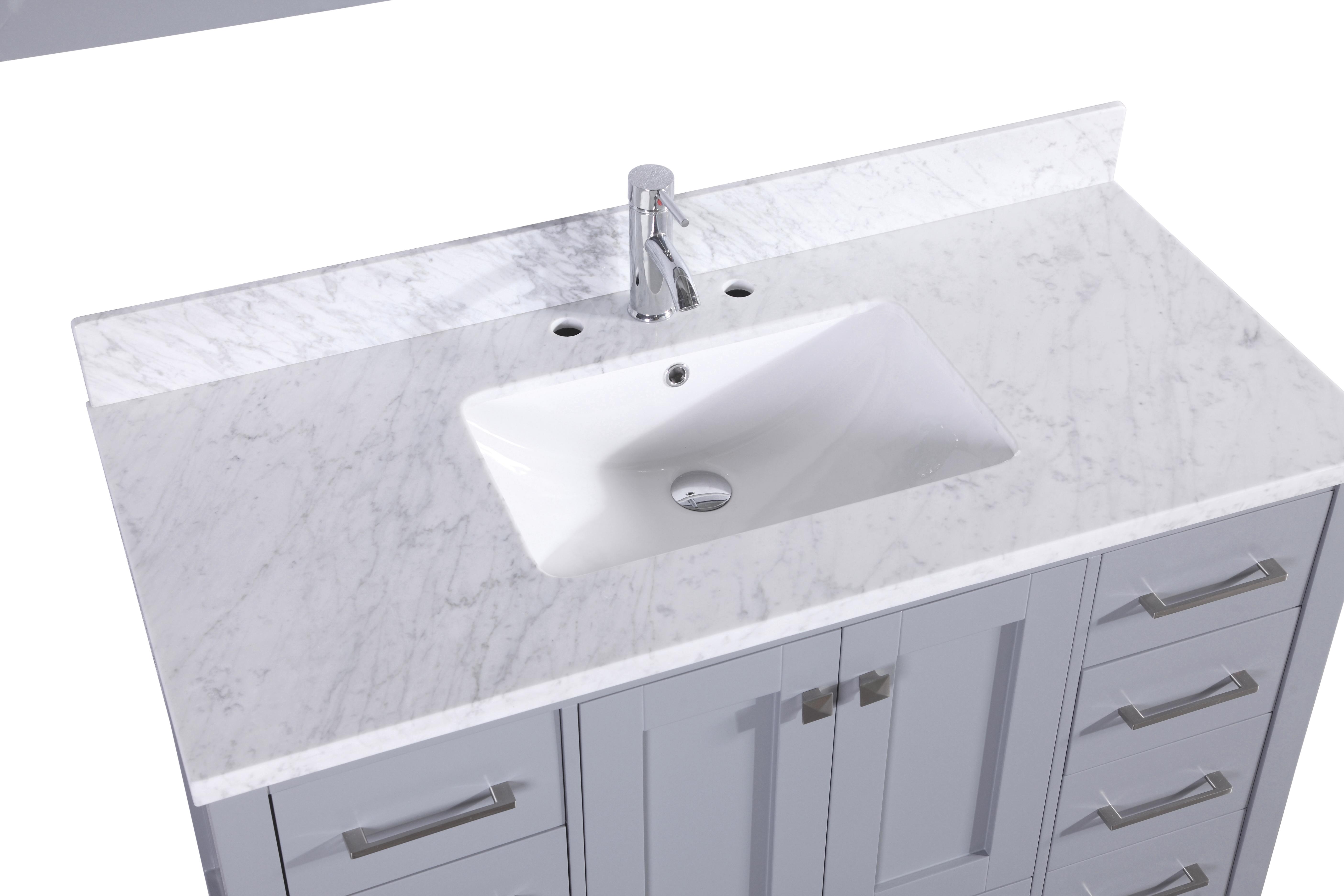 Eviva Aberdeen 48 Transitional Grey Bathroom Vanity