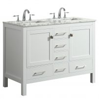 "EVVN412 48WH DS A 01 202x202 - Eviva Aberdeen 48"" Transitional White Bathroom Vanity with White Carrara Countertop and double Sinks"