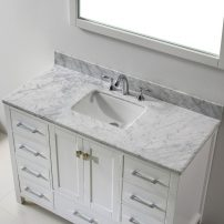 "EVVN412 48WH A 02 202x202 - Eviva Aberdeen 48"" Transitional White Bathroom Vanity with White Carrera Countertop"