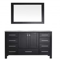 """EVVN412 60ES SS A Main 202x202 - Eviva Aberdeen 60"""" Transitional Espresso Single Bathroom Vanity with White Carrera Countertop"""