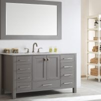 "EVVN412 60GR SS A 01 202x202 - Eviva Aberdeen 60"" Transitional Grey Single Bathroom Vanity with White Carrera Countertop"