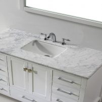 "EVVN412 60WH SS A 01 202x202 - Eviva Aberdeen 60"" Transitional White Single Bathroom Vanity with White Carrera Countertop"