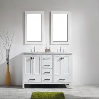 "EVVN412 60WH A 01 202x202 - Eviva Aberdeen 60"" Transitional White Bathroom Vanity with White Carrera Countertop"