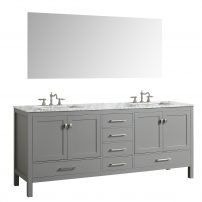 "EVVN412 72GR A 01 202x202 - Eviva Aberdeen 72"" Transitional Grey Bathroom Vanity with White Carrera Countertop & Double Square Sinks"