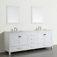 "EVVN412 72WH A 01 202x202 - Eviva Aberdeen 72""  Transitional White Bathroom Vanity with White Carrera Countertop"