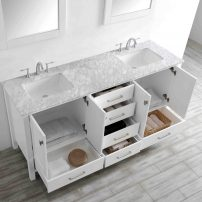 "EVVN412 78WH A 01 202x202 - Eviva Aberdeen 78"" Transitional White Bathroom Vanity with White Carrera Countertop"