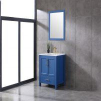 EVVN413 30BLU A 01 202x202 - Eviva Navy 30 inch Deep Blue Bathroom Vanity with White Carrera Counter-top and White Undermount Porcelain Sink