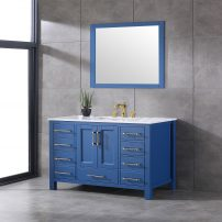 EVVN413 48BLU A 01 202x202 - Eviva Navy 48 inch Deep Blue Bathroom Vanity with White Carrera Counter-top and White Undermount Porcelain Sink