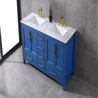 EVVN413 60BLU A 01 202x202 - Eviva Navy 60 inch Deep Blue Bathroom Vanity with White Carrera Counter-top and Double White Undermount Porcelain Sinks