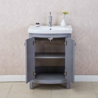 "EVVN508 24GR A 01 202x202 - Eviva Jersey 24"" Grey Transitional Bathroom Vanity with White Porcelain Sink"