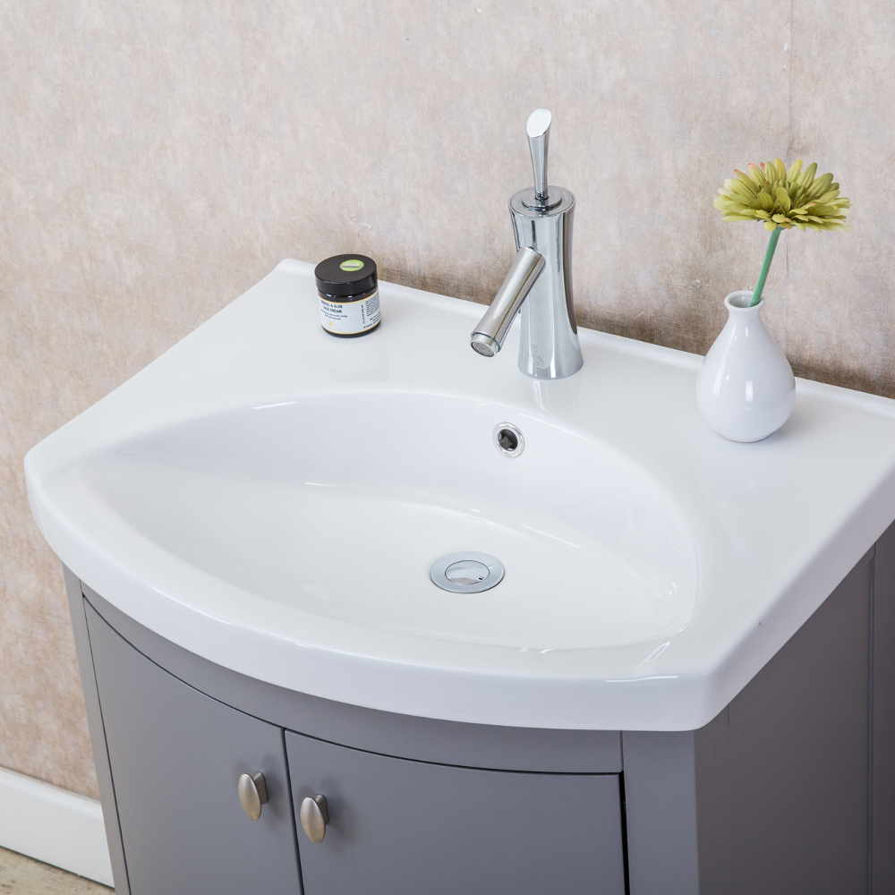 Eviva Jersey 24 Quot Grey Transitional Bathroom Vanity With