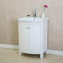 "EVVN508 24WH A 01 202x202 - Eviva Jersey 24"" White Transitional Bathroom Vanity with White Porcelain Sink"