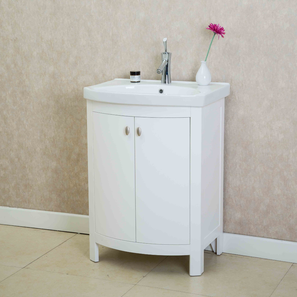 Eviva Jersey 24 Quot White Transitional Bathroom Vanity With