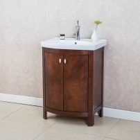 "EVVN508 24WN A 01 202x202 - Eviva Jersey 24"" Walnut Transitional Bathroom Vanity with White Porcelain Sink"