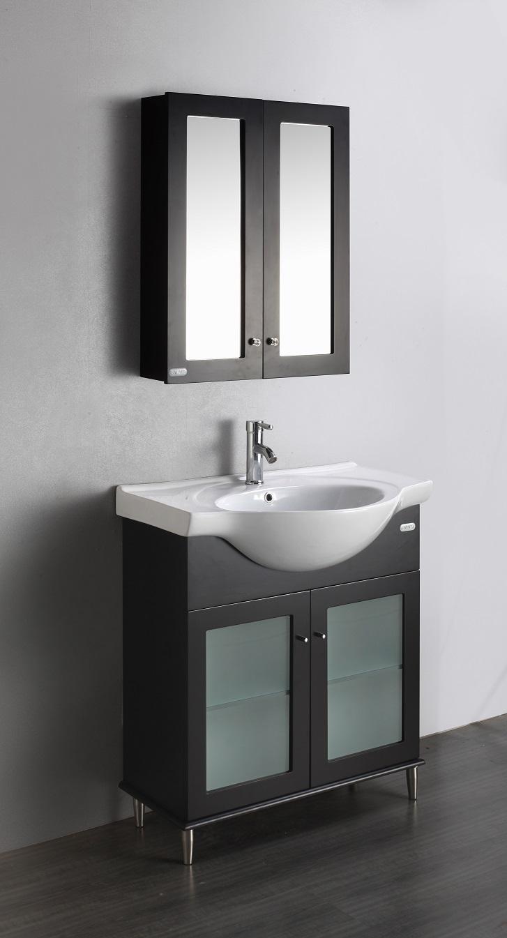 Eviva Tux 24 Quot Inch Espresso Bathroom Vanity With A White