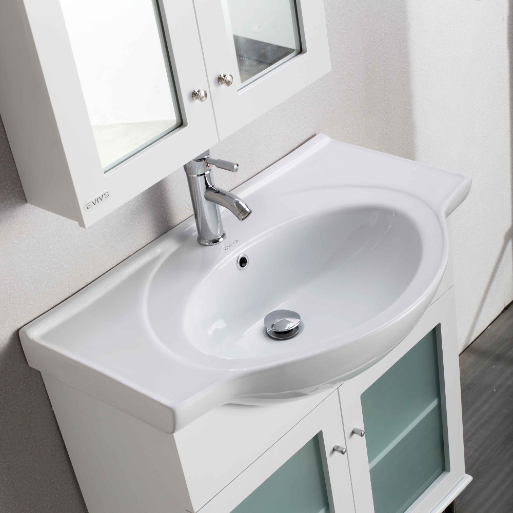 Eviva Tux 30 Quot White Transitional Bathroom Vanity With