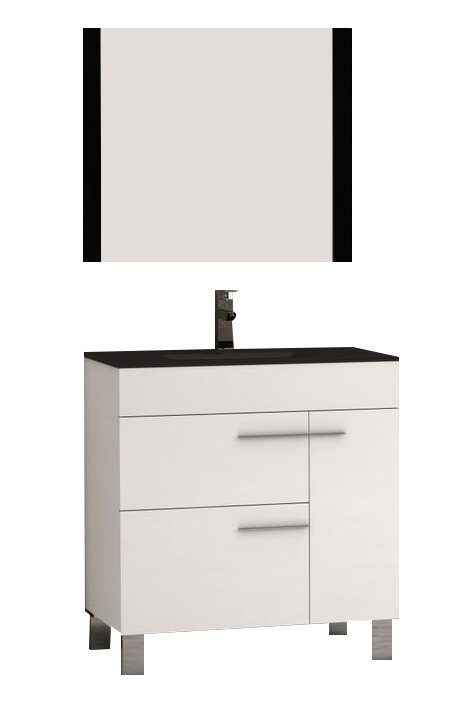"EVVN521 32WH A Main - Eviva Cup 31.5"" White Modern Bathroom Vanity with White Integrated Porcelain Sink"