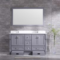 EVVN522 60GR A 01 202x202 - Eviva Booster 60 in. Double Sink Vanity in Gray with White Carrara Marble Countertop
