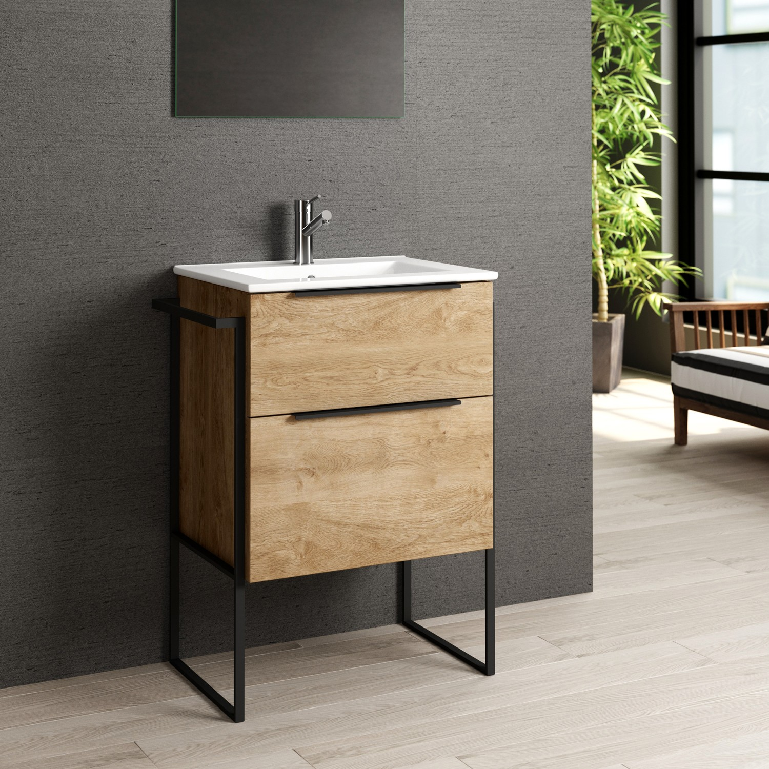 Eviva Marina 24 Medium Oak Bathroom