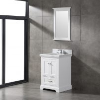 EVVN525 24WH A 01 202x202 - Eviva Houston 24 in. White Bathroom Vanity with White  Carrara Marble Countertop