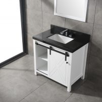 EVVN529 36WH A 01 202x202 - Eviva Dallas 36 in. White Bathroom Vanity with Absolute Black Granite Countertop