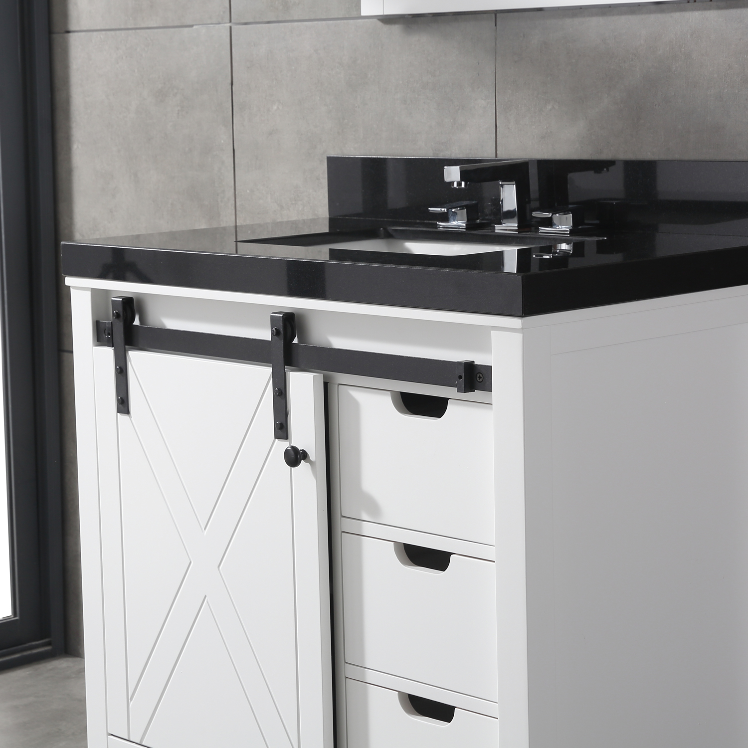 Eviva Dallas 36 in. White Bathroom Vanity with Absolute ...