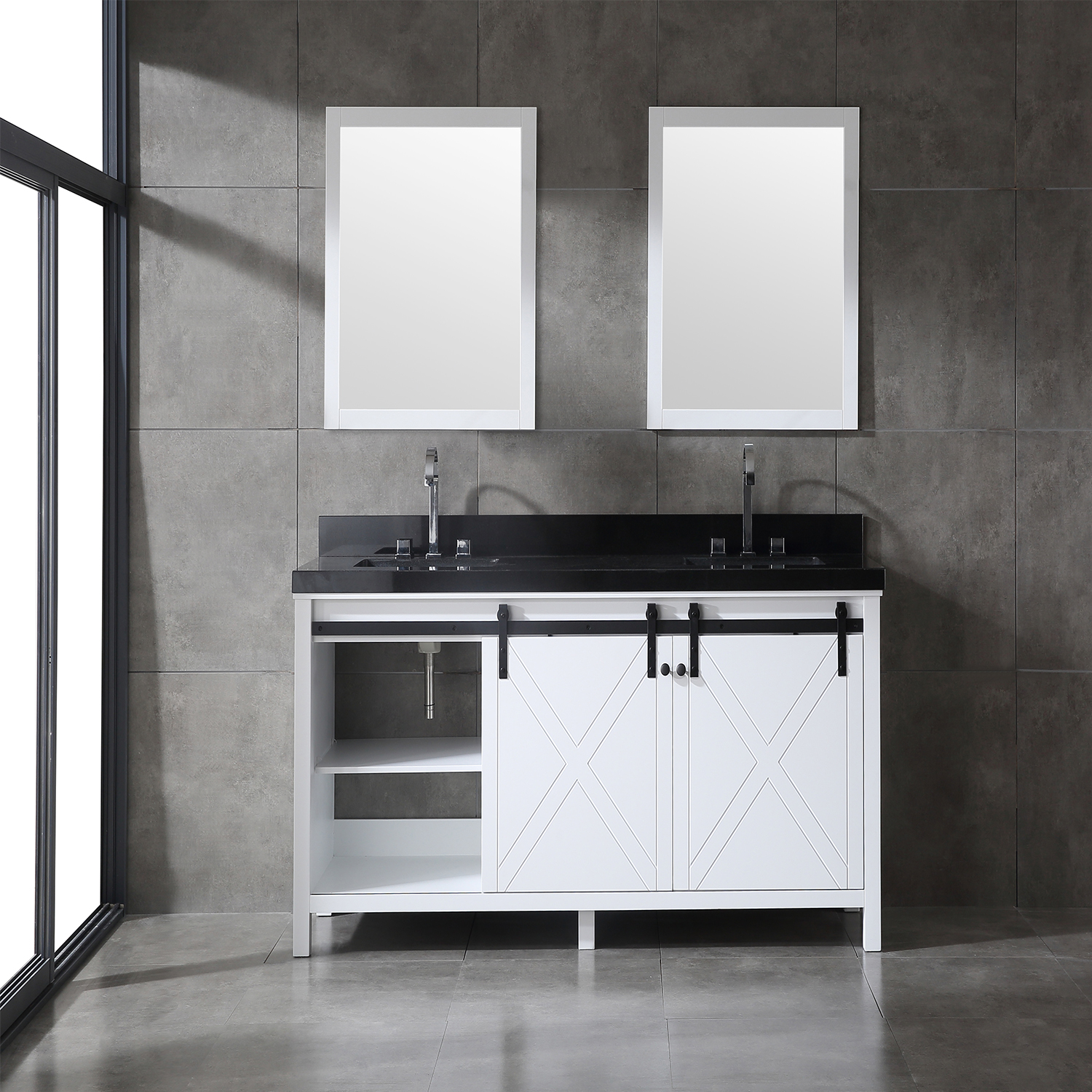 Eviva Dallas 72 in. White Bathroom Vanity with Absolute ...