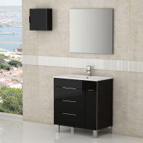 "EVVN530 28BL A 01 202x202 - Eviva Geminis 28"" Black Modern Bathroom Vanity with White Integrated Porcelain Sink"