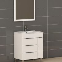 """EVVN530 28WH A Main 202x202 - Eviva Geminis 28"""" White Modern Bathroom Vanity with White Integrated Porcelain Sink"""