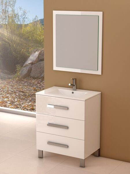 """EVVN531 30WH A Main - Eviva Libra 31.5"""" White Modern Bathroom Vanity  Wall Mount with White Integrated Porcelain Sink"""