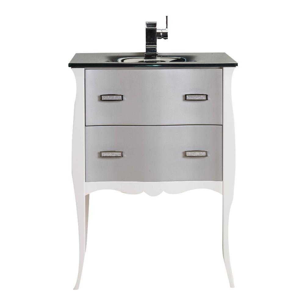 "24 White Bathroom Vanity eviva vitta 24"" walnut modern bathroom vanity with white"
