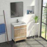 "EVVN540 24WHOAK A 01 202x202 - Eviva Petite Plus 24"" White/Oak Vanity with Porcelain sink"