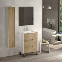 "EVVN543 32WHOAK A 01 202x202 - Eviva Bella 32"" White/Oak Vanity with Porcelain sink"