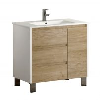 "EVVN543 32WHOAK A Main 202x202 - Eviva Bella 32"" White/Oak Vanity with Porcelain sink"