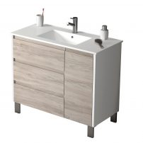 "EVVN543 39WHGRPN A Main 202x202 - Eviva Bella 39"" White/Gray Pine Vanity with Porcelain sink"