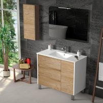 "EVVN543 39WHOAK A 01 202x202 - Eviva Bella 39"" White/Oak Vanity with Porcelain sink"