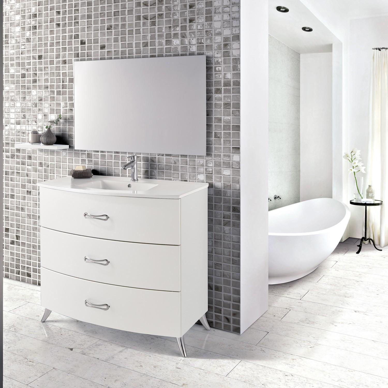Eviva Bari 32 White Freestanding Bathroom Vanity With Integrated White Porcelain Sink Decors Us