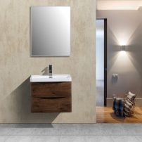 """EVVN600 24RSWD WM A 01 202x202 - Eviva Smile 24"""" Rosewood Modern Bathroom Vanity Set with Integrated White Acrylic Sink"""