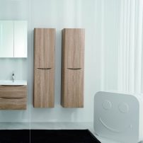 "EVVN600 24WHOK WM A 01 202x202 - Eviva Smile 24"" White Oak Wall Mount Modern Bathroom Vanity Set with Integrated White Acrylic Sink"