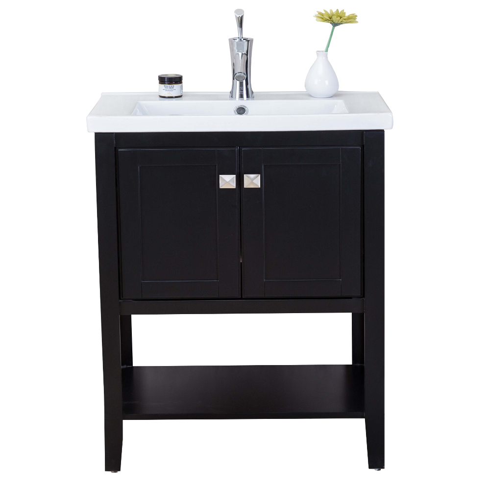 modern bathroom vanity sink eviva tiblisi 24 quot espresso modern transitional bathroom 19602