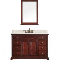"""EVVN709 48TK CABINETONLY NOTOP A Main 202x202 - Eviva Elite Stamford 48"""" Brown Solid Wood Bathroom Cabinet Only Without Top"""