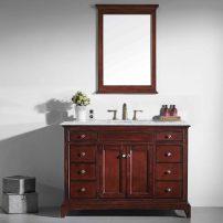 "EVVN709 48TK A 01 202x202 - Eviva Elite Stamford 48"" Brown Solid Wood Bathroom Vanity Set with Double OG Crema Marfil Marble Top & White Undermount Porcelain Sink"