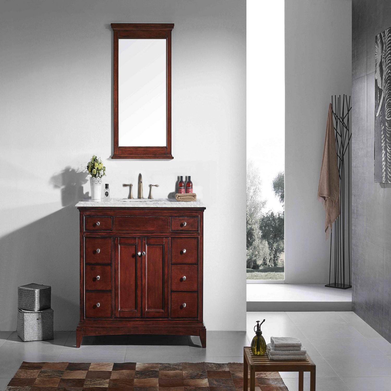 """Eviva Elite Stamford 48"""" Brown Solid Wood Bathroom Vanity ..."""