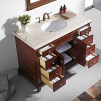 "EVVN709 60TK SS A 01 202x202 - Eviva Elite Stamford 60"" Brown (Teak) Solid Wood Single Bathroom Vanity Set with Double OG Crema Marfil Marble Top & White Undermount Porcelain Sink"