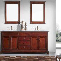 "EVVN709 60TK A 01 202x202 - Eviva Elite Stamford 60"" Brown Solid Wood Bathroom Vanity Set with Double OG Crema Marfil Marble Top & White Undermount Porcelain Sinks"