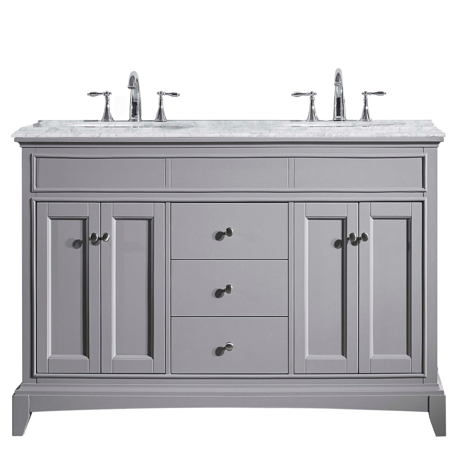 Eviva elite stamford 72 gray solid wood bathroom vanity set for Solid wood double sink bathroom vanity