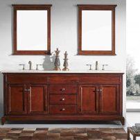"EVVN709 72TK A 01 202x202 - Eviva Elite Stamford 72"" Brown Solid Wood Bathroom Vanity Set with Double OG Crema Marfil Marble Top & White Undermount Porcelain Sinks"