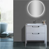 EVVN72 32WH A 01 202x202 - Eviva Jasmine 32 in. Bathroom vanity in White and White Integrated Acrylic Countertop