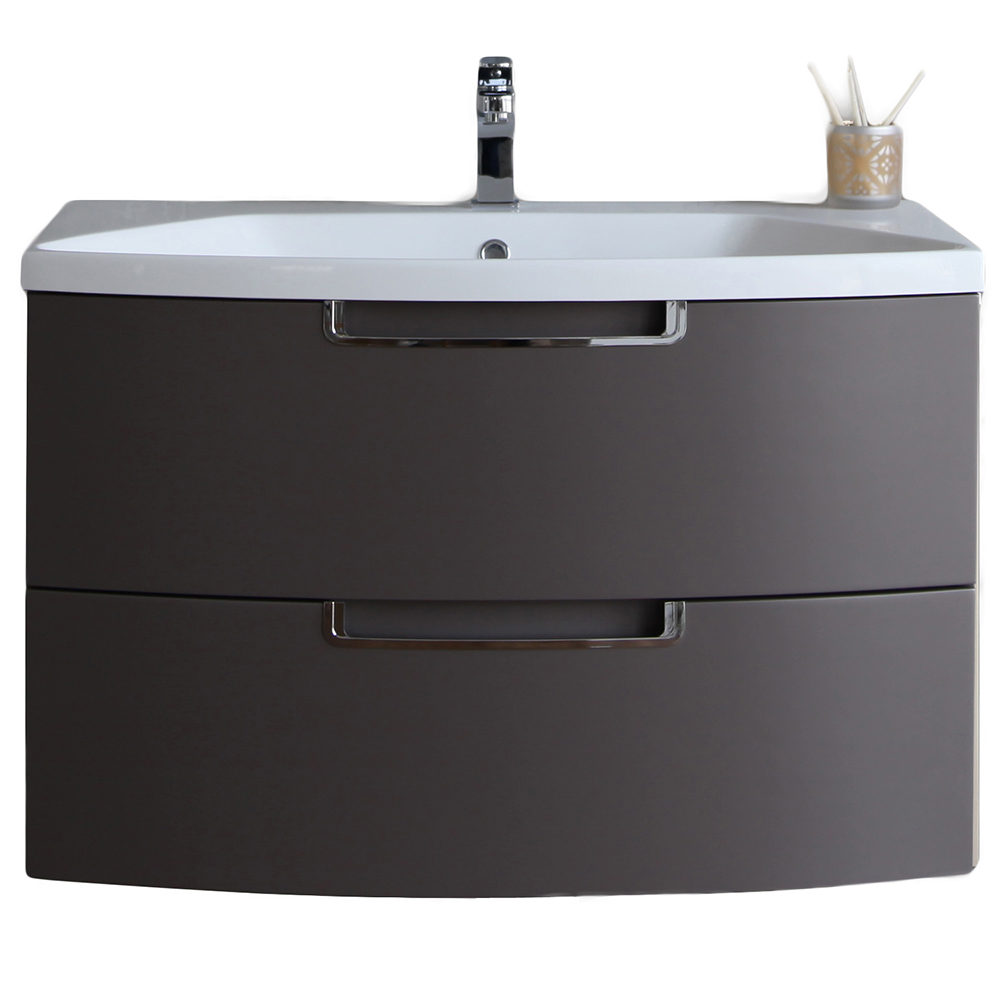 EVVN73 32ES A Main - Eviva Lola 32 in, Wall Mounter Bathroom Vanity in Cedar Espresso and White Integrated Acrylic Countertop