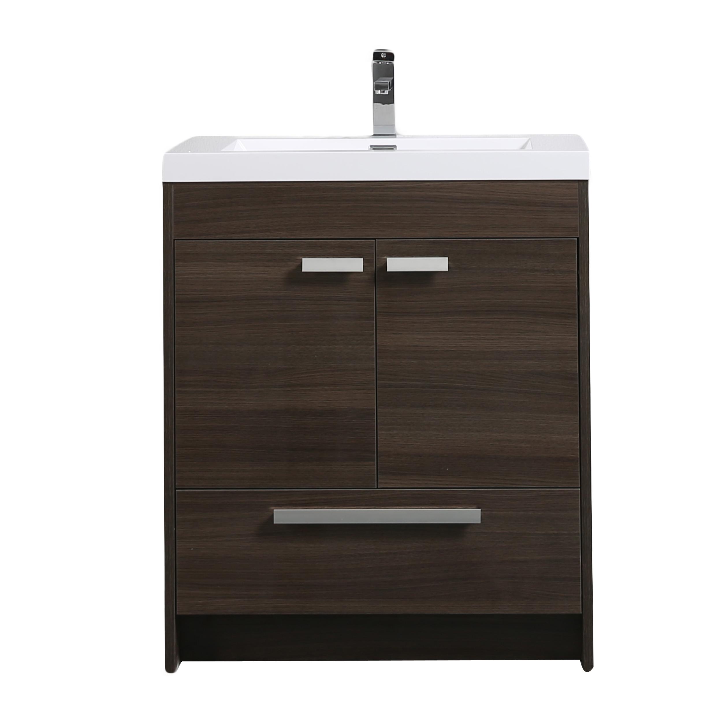 Eviva Lugano 30 Grey Oak Modern Bathroom Vanity
